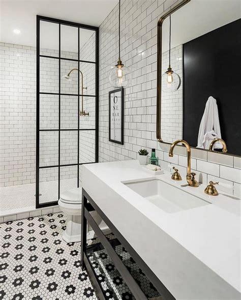 industrial farmhouse bathroom tile kabina prysznicowa w loftowym stylu inspirująca łazienka Industrial Farmhouse Bathroom Tile