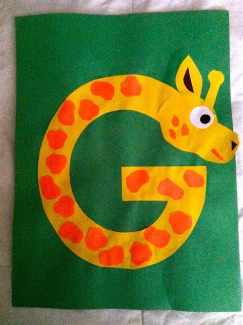 letters kindergarten preschool alphabet craft g