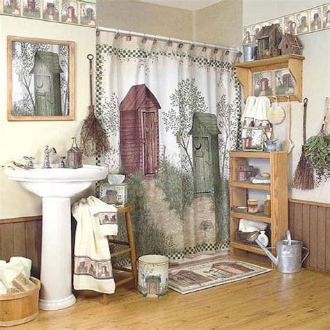 Outhouse Shower Curtain  Country Shower Curtian