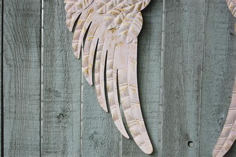 Pink angel wings wall decor ? The Vintage Artistry