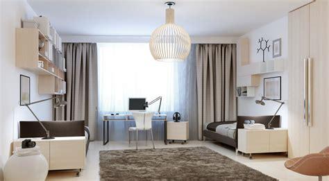 3d home interior design sypialnia i salon w jednym pomieszczeniu knaufmag