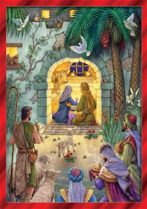 christian nativity themed advent calendars
