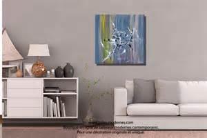 Salon Vert De Gris : tableau d coratif gris vert format carr ~ Melissatoandfro.com Idées de Décoration