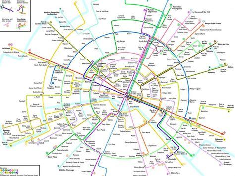 une nouvelle carte du m 233 tro parisien qui simplifie la vie