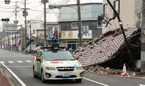 google street view  fukushima nuclear exclusion zone
