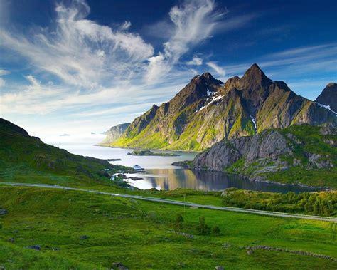 Desktop Wallpaper by Green Desktop Wallpaper Hd Landscape Mountain Lake Grass