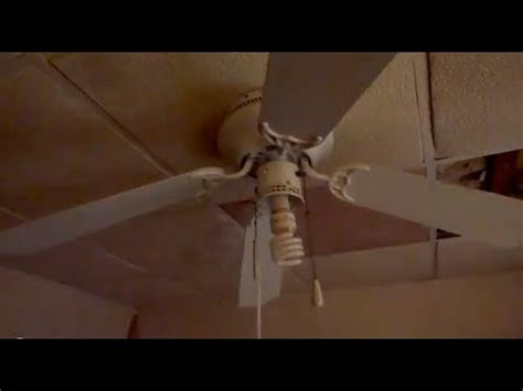ceiling fan wobbles a bit hton bay littleton ceiling fan