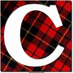 Plaid Texture Letters Alphabet Numbers Greetings Icons