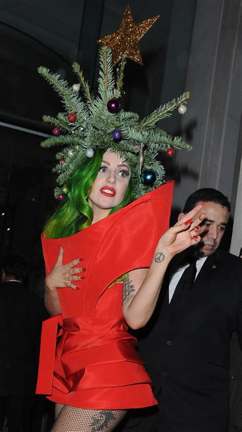 gaga christmas tree mp3 gaga dresses up as an actual tree leaving capital fm s jingle bell trend