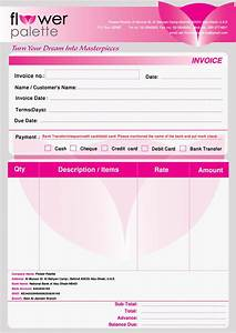 flower palette projects by haidee eng bagatsolon at With flower shop invoice template