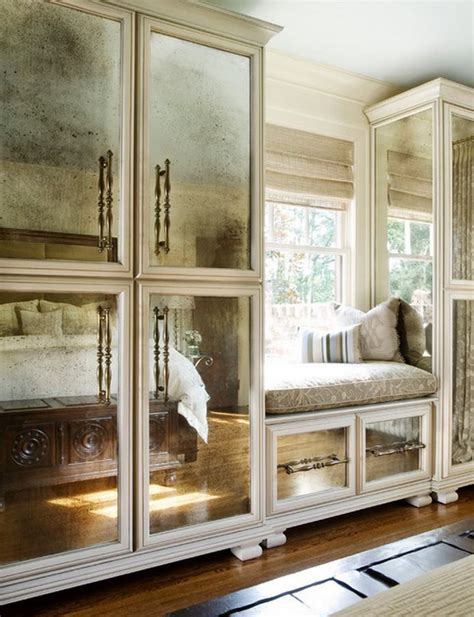 mirrored glass kitchen cabinets i 39 d consider these cabinets with antiqued mirror panels
