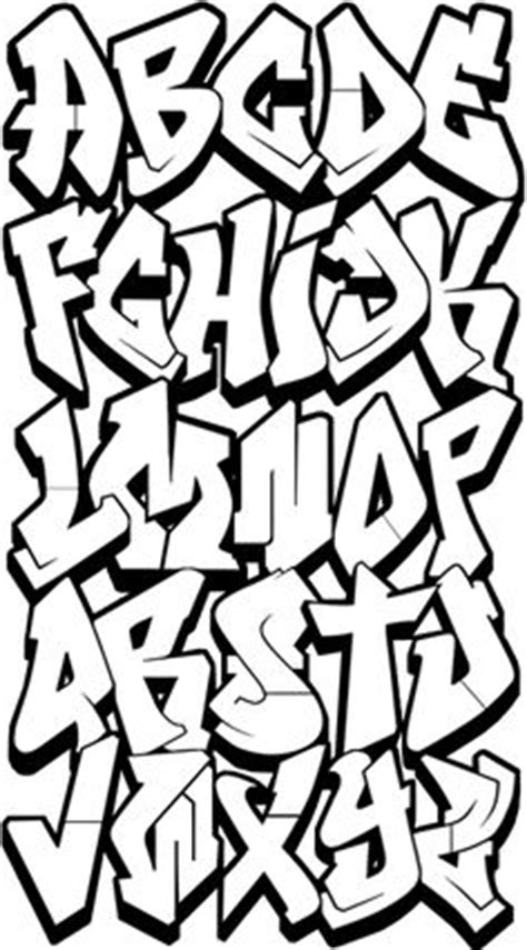 block letters graffiti alphabet design sketch graffiti