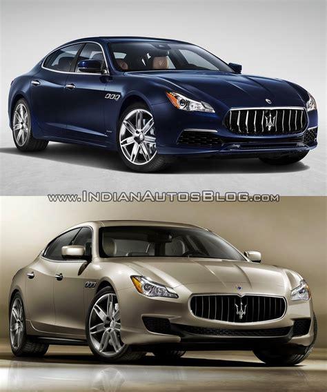 Vs Maserati by 2016 Maserati Quattroporte Facelift Vs 2013 Maserati