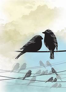 two birds on a wire - Google Search | tattoos | Pinterest