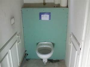 Toilettes Suspendues Grohe : coffrage de wc suspendu page 1 wc et wc suspendus ~ Edinachiropracticcenter.com Idées de Décoration