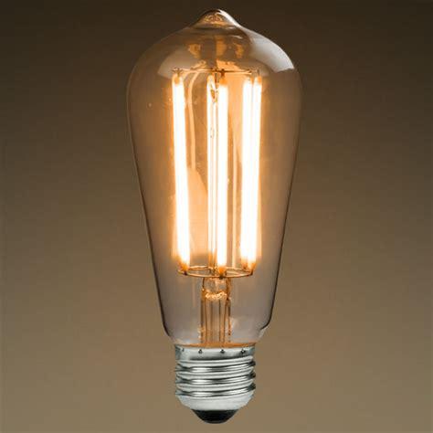 led antique filament bulb edison style st58 6 watt 60w