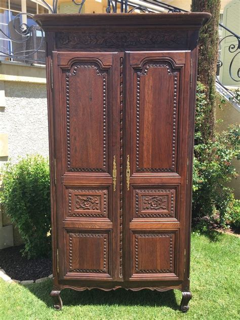 kitchen storage armoire antique normandy bedroom armoire in oak large 3117