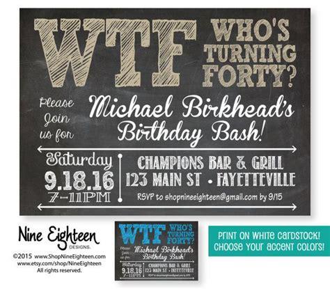 FREE 40th Birthday Invitation Wording FREE Printable