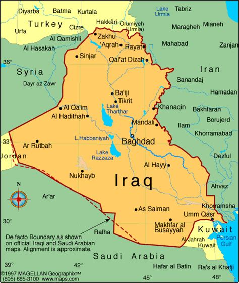 iraq map infoplease