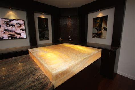 Lit Onyx Bar Top   Modern   Basement   cleveland   by