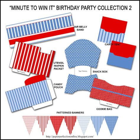 You can see emily's minute to win it party from 2011. Paper Perfection: January 2011
