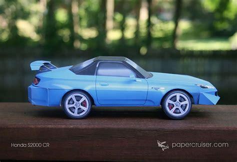 Honda S2000 Cr Paper Model
