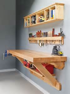wall mounted workbench woodsmith plans