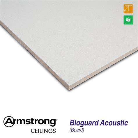 armstrong bioguard acoustic tiles armstrong bioguard acoustic board bp2550m 1200 x 600mm