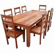 Oak Dining Table Chairs by Rustic Furniture Solid Wood Dining Table Chair Set