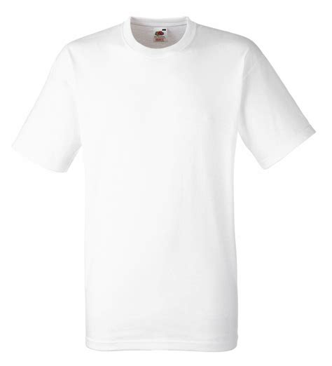 Tsirt Xl fruit of the loom plain white t shirt 100 cotton