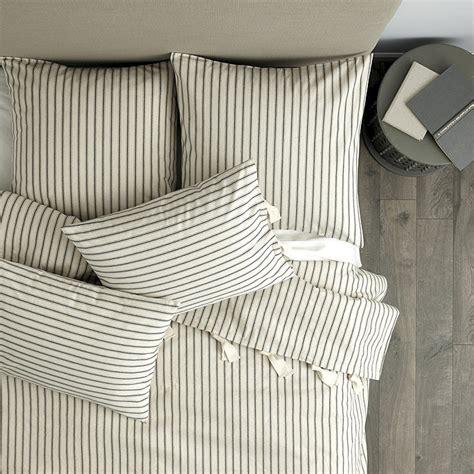 ticking stripe quilt ticking stripe duvet navy ballard designs