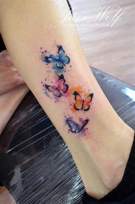 javi wolf watercolor butterflies wishful inking