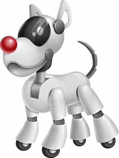 Robot Dog Cartoon Clipart Character Robotic Robo