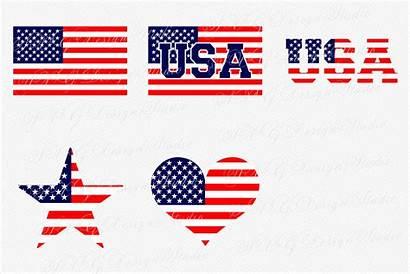 Flag Svg American Clipart Vector Usa Patriotic