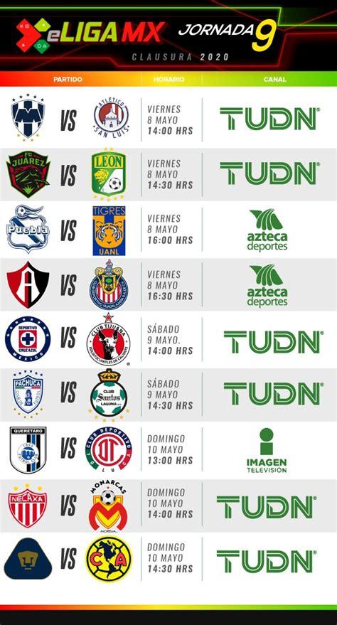 eLiga MX. Jornada 9, fechas, horarios y dónde ver los partidos