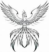 Phoenix Coloring Pages Adults Printable Getcolorings Pag sketch template