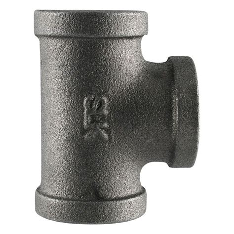 ldr industries pipe decor   black iron fpt  fpt tee