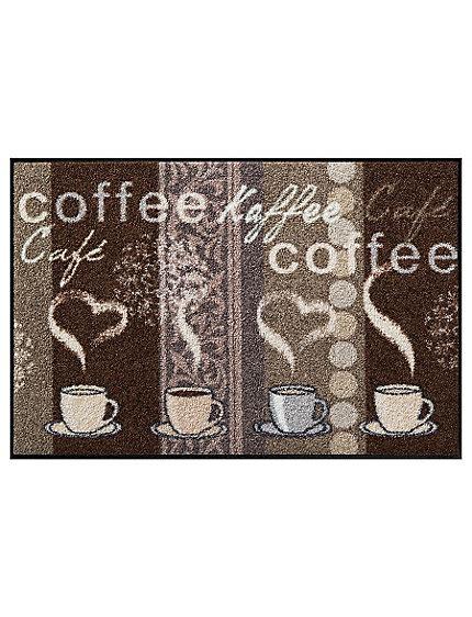 helline tapis de cuisine tapis antidérapant de cuisine à motifs et message café