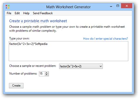 math worksheet generator download softpedia