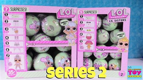 lol surprise series  tots lil sisters opening doll