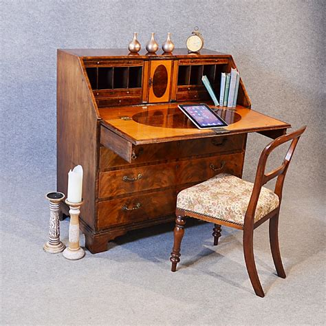 bureau large antique georgian writing bureau large desk on