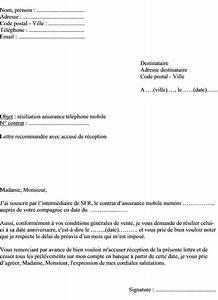 Resiliation Contrat Auto : resiliation assurance mobile ~ Gottalentnigeria.com Avis de Voitures