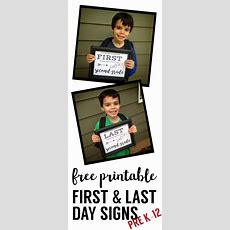 First Day Of School Sign Free Printable  Paper Trail Design