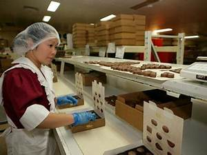 Inside a chocolate factory - Chocolate packing department ...