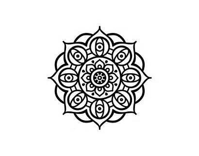 Mandala Eyes Open Coloring Coloringcrew Mandalas Para