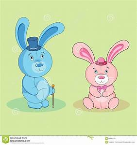 Cartoon Rabbit Boy And Bunny Girl Stock Vector - Image ...
