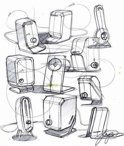 Sketch Sketches Drawing 3d Industrial Speaker Speakers
