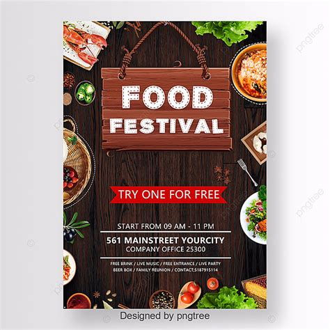 food festival poster template     pngtree