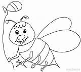 Bee Coloring Bumble Pages Printable Bees Cool2bkids Colouring Sheets Printables Drawing Yellow Drawings sketch template