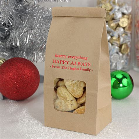 window goodie bags personalized christmas    tin tie